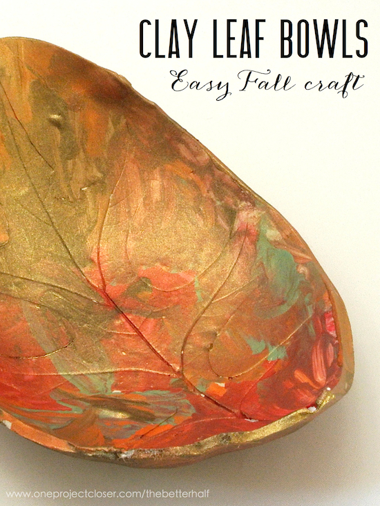 An easy clay craft for kids autumn leaf bowls one for Leaf crafts for adults