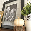 DIY Thanksgiving Mantel: Gold & Rustic