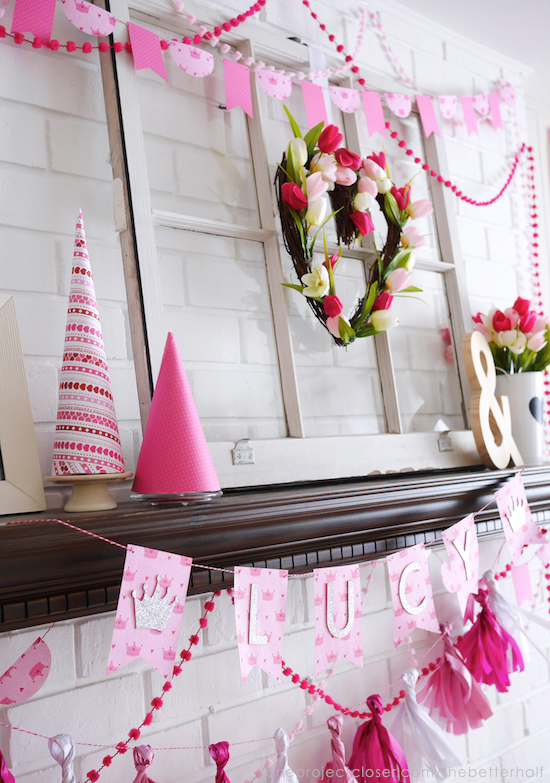 DIY Princess Party Decorations from One Project Closer