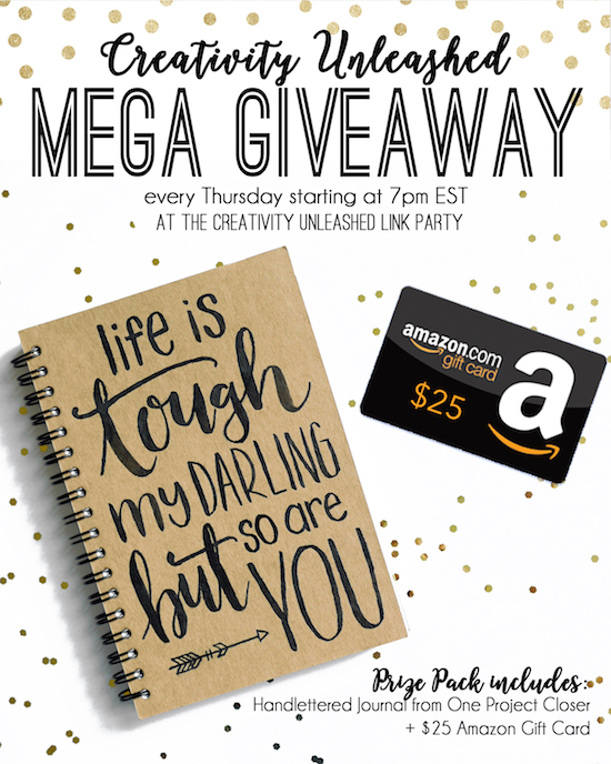 Amazon Gift Card and Journal Giveaway at One Project Closer