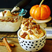 No Churn Pumpkin Pie Ice Cream with Candied Pecans